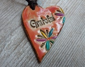 Essential Oil Diffuser Grateful Necklace Leather  Rustic Earthy Ceramic Pendant  Diffuser  Bohemian Style Gypsy Hippy