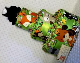 Baby Diaper Cake Woodland Animals Skunk Topper Shower Gift Centerpiece