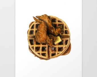 Chicken and Waffles Print