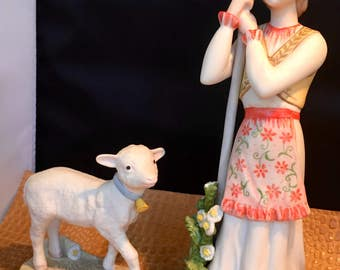 Cybis Storybook collectiable Mary with lamb Mandy