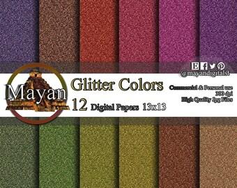 Digital paper, digital print, 12 Digital wall images and colors paper for decorations