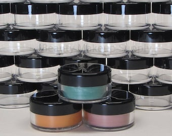 500 Wholesale Cosmetic Jars Plastic Beauty Makeup Containers - 10 Gram (Black Lid) 5068-500   FREE US Shipping