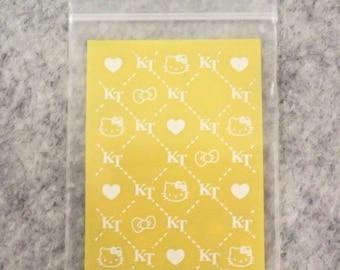 30pcs Yellow Cute Hello Kitty Ziplock Bag (7cm X 5cm) - Small