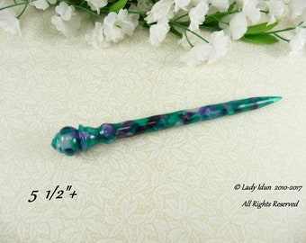 Specialty Hair Stick Shorter Length Multi Color Flake Acrylic Limited Supply