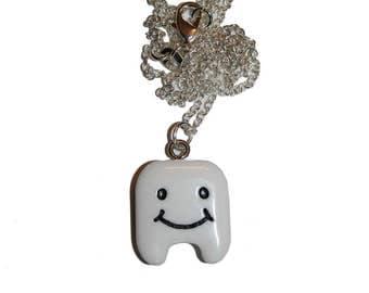 Cute Kawaii Tooth Charm Necklace