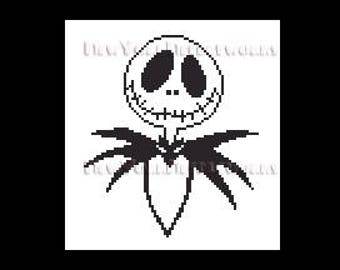 Jack Skellington, Skellington, Halloween Pattern, Nightmare Before Christmas, Halloween Cross Stitch, Halloween, NewYorkNeedleworks on Etsy