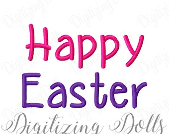 Happy Easter Machine Embroidery Design Digital File 3x3 4x4 5x5 5x7 6x10 INSTANT DOWNLOAD