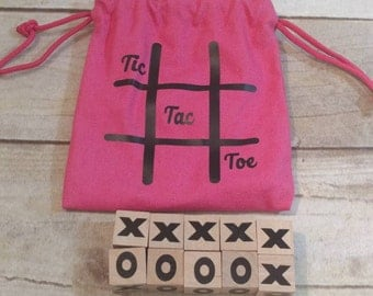 Tic Tac Toe Game, Wooden Tic Tac Toe Game, Block Game, Kids Game, Game with Storage Bag, Travel Game, Wooden Game, Game, Portable Game