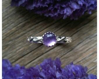 Sterling Silver Amethyst Ring Size 9.5 Purple Gemstone 925 Jewelry February Birthstone