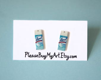 Lysol Cleaning Stud Earrings
