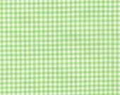 "Robert Kaufman - Carolina 1/8"" Gingham in Sweet Pea Green P-5689-55 pale green white checkered - cotton sewing quilting fabric - BTY"