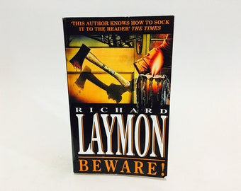 Vintage Horror Book Beware! by Richard Laymon 1994 UK Edition Paperback