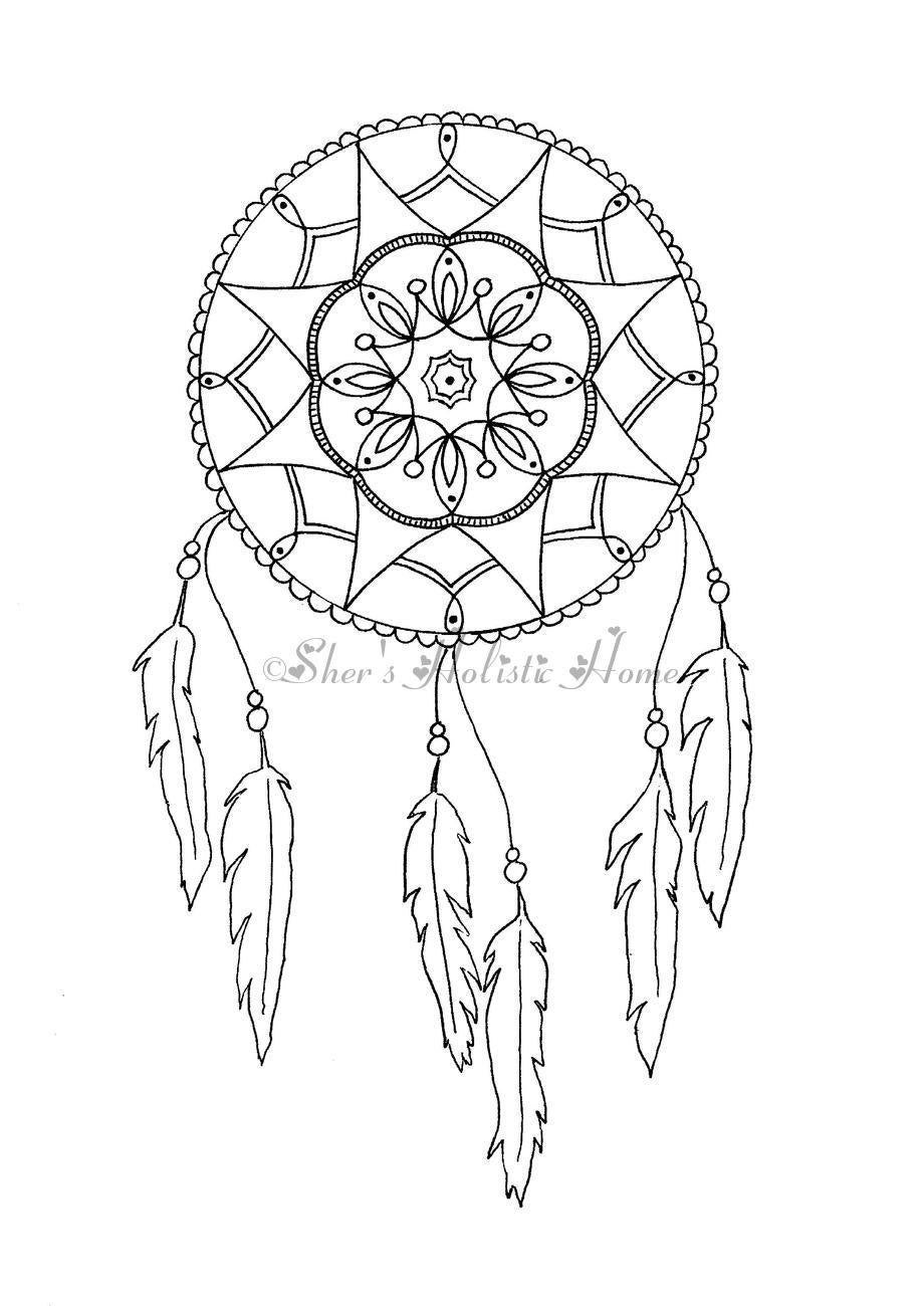 attrape r ves attrapeur de r ve dreamcatcher dessin page. Black Bedroom Furniture Sets. Home Design Ideas