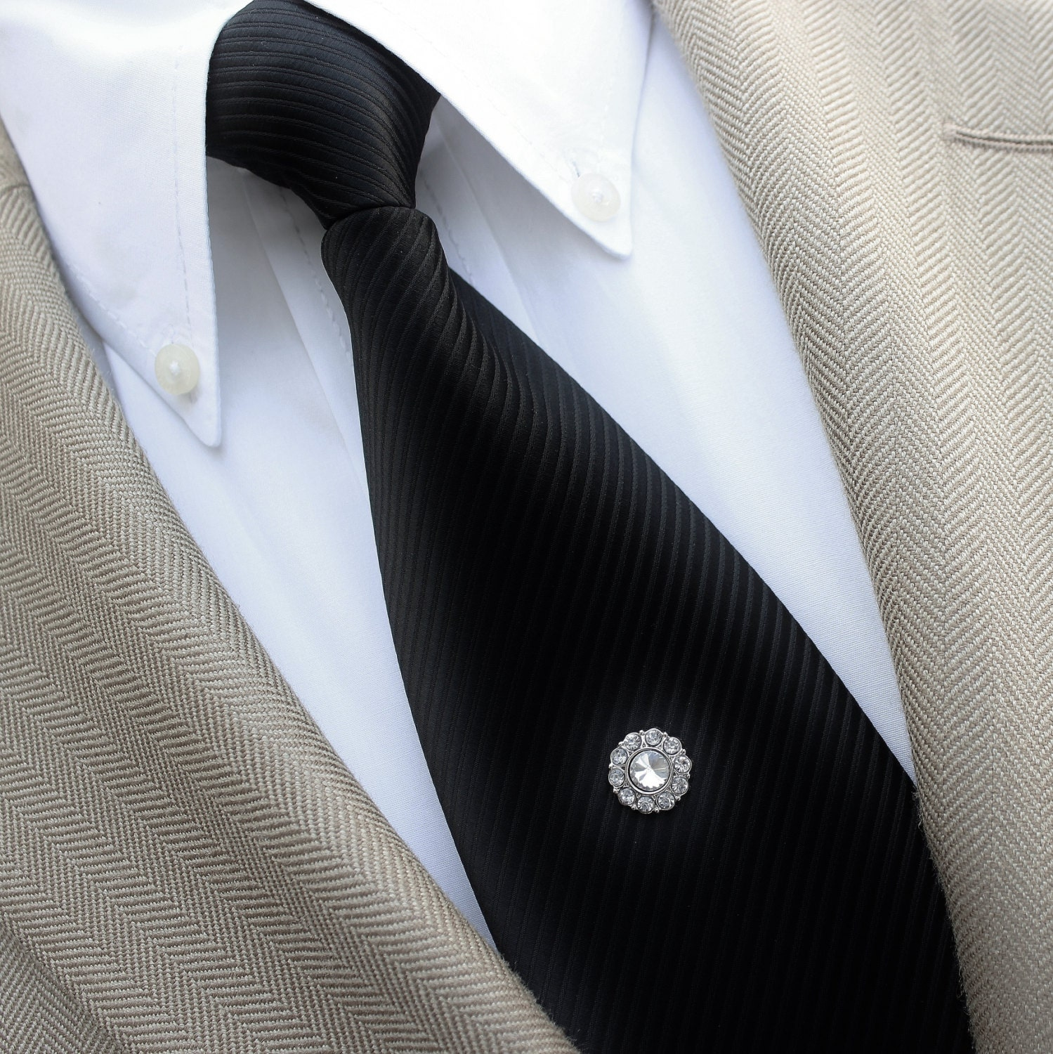 Black Diamond Tie Tack Pins, Mens Gifts, Gifts for Him ...