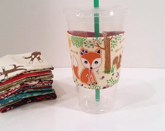 Eco-Friendly Cofffee/Tea Sleeve - What Does the Fox Say
