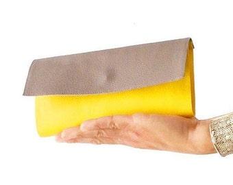 GO VEGAN leather wallet, yellow wallet, credit card wallet, two tone wallet, cardholder wallet, phone wallet, cute wallet, vegan gift