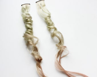 Green Hair Extension, Pastel hair Clip In Extension, Scene Hair, 24 inch extension, Emo hair | Lily Love