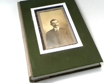 Victorian Diary, Cabinet Card Journal, Ancestor Journal, Hardcover Journal, Cloth Journal