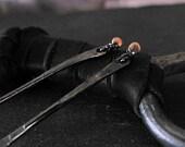 Rose Gold Stick Earrings Black Earrings Dangle Earrings Gold Silver Earrings Black Dangle Bar Stick Urban Earrings Modern Gift Minimalist