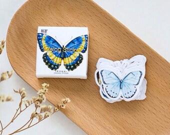 45 Pcs Beautiful Butterflies Planner Stickers - Washi Tape Masking Tape Decorative Paper Sticker