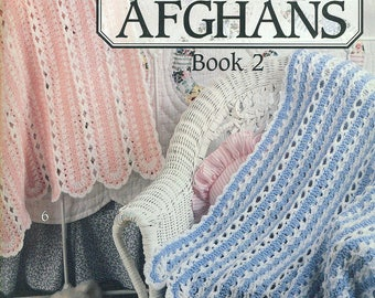 Baby MILE-A-MINUTE Afghans Book 2 Leisure Arts 2835 Jennine Korejko 1996 Crochet Pattern Booklet