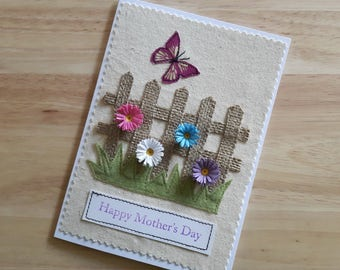 Mother's day applique and quilled card