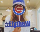 Photo Prop #flythew and Cubs Logo package