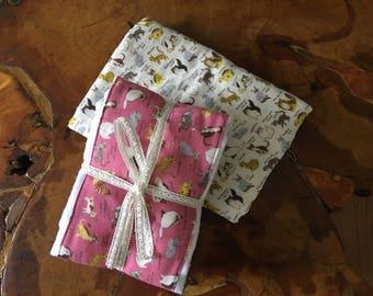 Baby  Double Gauze Cotton Receiving Crib Blanket and Burp cloths gift set.