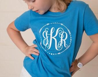 Monogrammed Shirts for Girls - Arrow Shirt - Monogram Shirts for Kids - Arrow Monogram - Gift for her - Birthday Gift - Arrow Shirt - Gift
