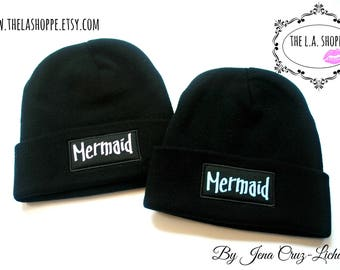 Mermaid Beanie (Your Choice of Blue or Lavender)
