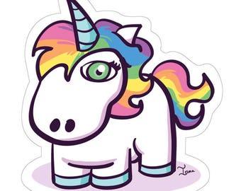 Uni-eyed Unicorn Sticker