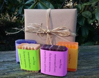 Handmade Soap Gift Set 4 Bars Vegan