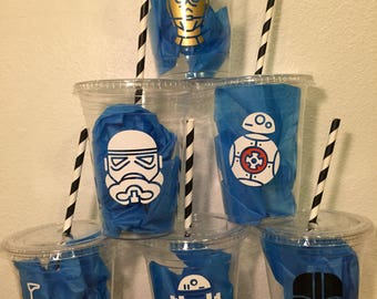 Star Wars inspired plastic cups 55 cups & 80 plates 8 different designs (16oz) ... Great for parties, birthdays, celebrations