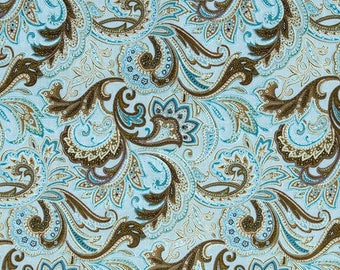 Snapping UnPaper Towels - Turquoise Paisley