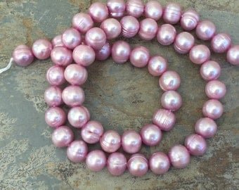 Pink Potato Pearls, 8mm, 16 inch strand