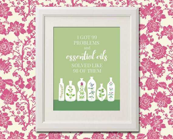 Items Similar To Essential Oils Quote Print