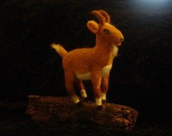 Sassy Goat Needle Felted Soft Sculpture