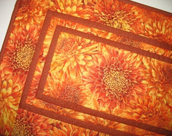 Elegant Table Runner, Autumn, thanksgiving,  handmade, quilted, fabric from Timeless Treasure