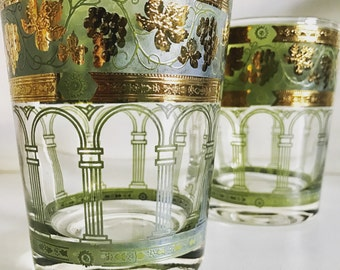 Cera glasses etsy cera golden grapes whiskey glasses gumiabroncs Image collections