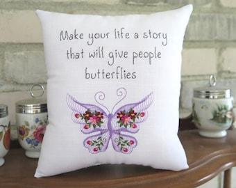 Butterfly Tuck pillow