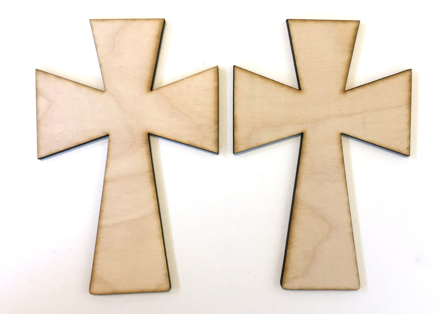 Unfinished wooden crosses for crafts -  2 45