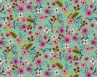 Frolic in Robin's Egg Blue 42634-10 - MERIWETHER - by Amy Gibson for Windham Fabrics - By the Yard