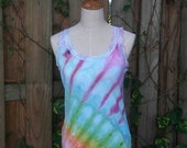 Rainbow Ice Dyed Ribbed Tank Top - Extra Large - Please Read Item Details Before Buying