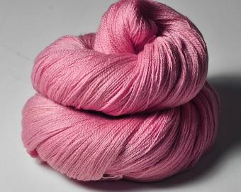 Hard (raspberry) candy OOAK - - Merino/Silk/Cashmere Fine Lace Yarn