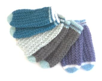 Custom Knit lace bed socks  , hand knit mohair / silk night wear , soft comfy socks ,  feminine socks , mothers day gift , night socks