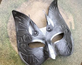Techno Cat - leather costume mask