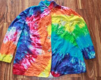 Tie Dye Ralph Lauren jacket/blazer upcycled