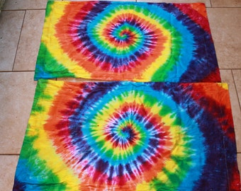 Tie Dye King size Pillow Sham set of 2 SALE