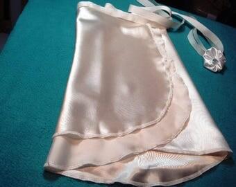 """14"""" Papyrus Charmeuse Ballet Wrap Skirt"""