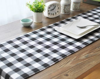 Table Runner Buffalo Check Plaid Dining,Coffee,Party,Wedding,Birthday Gift